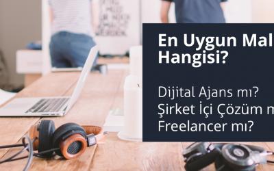 En Uygun Maliyet Hangisi? Dijital Ajans mı? Şirket İçi Çözüm mü? Freelancer mı?