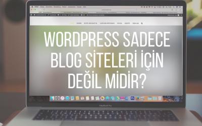WordPress Sadece Blog Siteleri İçin Değil midir?